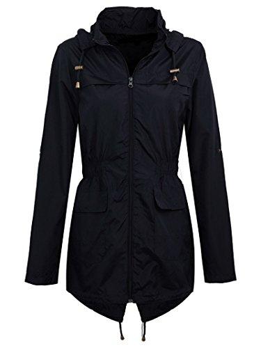 Cystyle Regenjacke Damen Wasserdicht Jacke Sommerjacke
