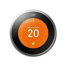 Nest Learning - Termostato Inteligente de 3 A Generación (Versión Española), Acero