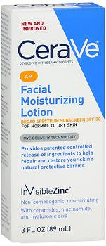 CeraVe Facial Moisturizing Lotion AM 3 oz (Pack of 3)