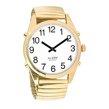 Reizen Gold-Tone Talking Extra-Large Face Watch - Exp Band - Unisex
