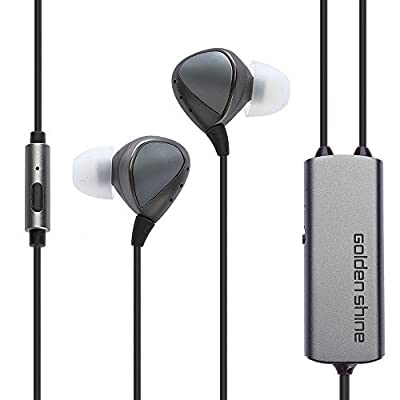Golden Shine H100 Active Noise Cancelling Headphone Wired Earbuds In-Ear Earphone with Microphone
