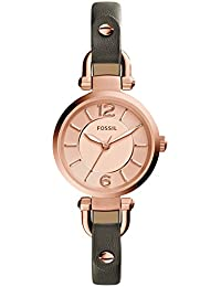 Women's ES3862 Georgia Three-Hand Leather Watch With Gray Band