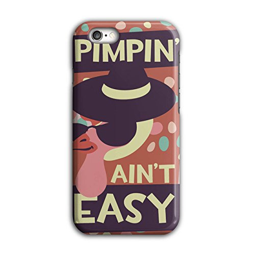 Pimpin Aint Easy Fun Chick Love NEW Black 3D iPhone 6 / 6S Case | Wellcoda (Pimps And Hoe Party Costumes)