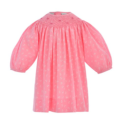 Carriage Boutique Baby Girl Hand Smocked Bishop Dress w/Bow Print, 6M