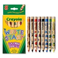 Crayola LLC Products - Colored Pencils, Hexagon Shape, 5.3mm Tip, 8/ST, Assorted - Sold as 1 ST - Write Start colored pencils have a hexagonal shape that is easier for small hands to hold. Offers extr