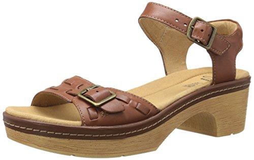 Clarks Preslet Piedra vestido de la sandalia Tan