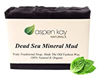 Dead Sea Mud Soap Bar 100% Organic & Natural. With Activated Charcoal & Therapeutic Grade Essential Oils. Face Soap or Body Soap. For Men, Women & Teens. Chemical Free. 4.5oz Bar