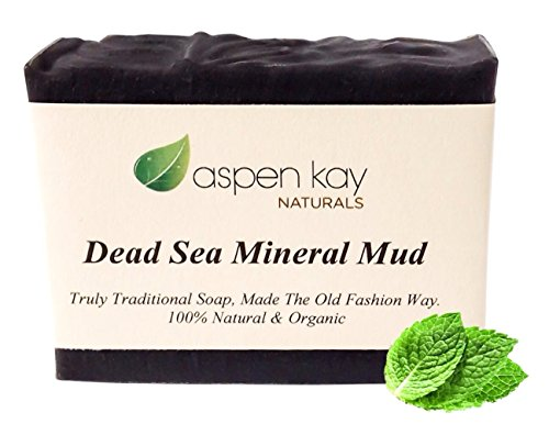 Dead Sea Mud Soap Bar 100% Organic & Natural. With Activated Charcoal & Therapeutic Grade Essential Oils. Face Soap or Body Soap. For Men, Women & Teens. Chemical Free. 4.5oz Bar (Hand Made Organic Soap compare prices)
