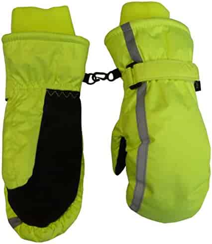 N'Ice Caps Kids Thinsulate and Waterproof Reflector Ski Mittens