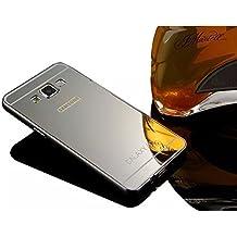 Samsung Galaxy A5 (2015 Version) case,Vandot Luxury Ultra Slim Thin Detachable Metal Aluminum Bumper Frame Bling Mirror Case Cover PC Hard Back Shell Anti-scratch shockproof Protective skin Pattern-Black