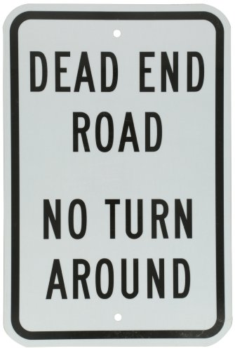 SmartSign 3M Engineer Grade Reflective Sign, Legend 'Dead End Road No Turn Around', 18' high x 12' wide, Black on White