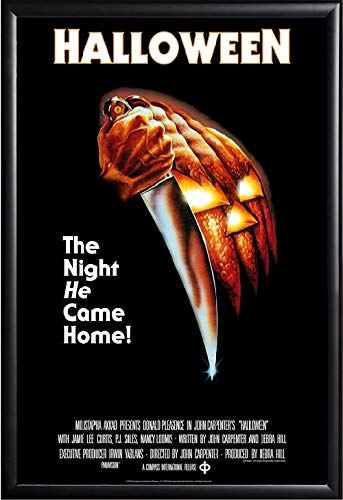 Halloween Movie Poster Framed (Black)