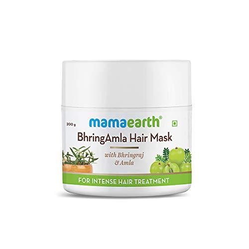 Mamaearth BhringAmla Hair Mask with Bhringraj and Amla for Intense Hair Treatment – 200 g