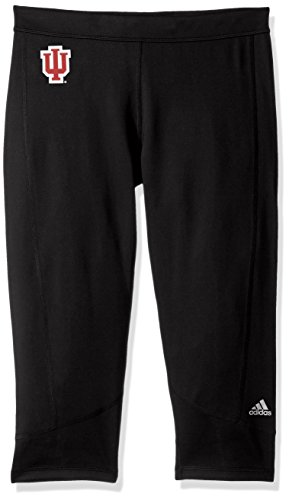 NCAA Indiana Hoosiers Adult Women Team Logo TechFit Solid 3/4 tight, Small, (Solid Game Football Pant)