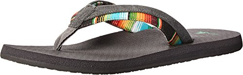 Sanuk Men's Beer Cozy Light Funk Flip Flop, Charcoal, 12 M US