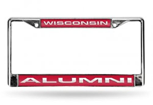 Rico NCAA Wisconsin Alumni Laser Chrome Frame Sports FCLA450112 Fan Automotive Accessories, Multicolor, One Size