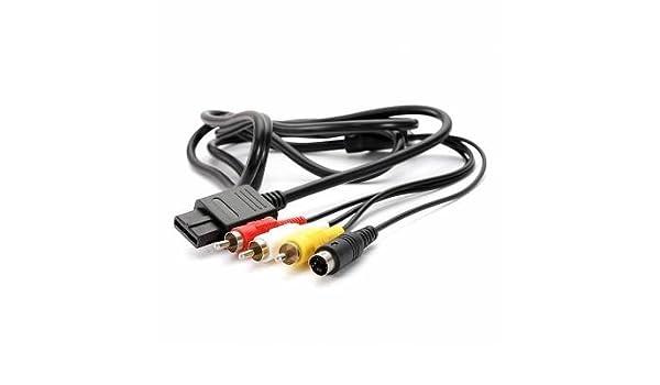 Pleasing Amazon Com 6Ft Av Tv S Video Av Cable For Super Nintendo Gamecube Wiring Cloud Brecesaoduqqnet
