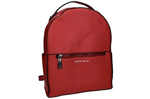 Tasche damen rucksack schulter PIERRE CARDIN rot mit offnung zip VN990