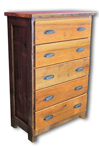 - Reclaimed Heart Pine Chest of Drawers