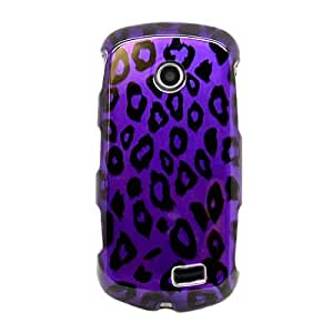 Hard Snap-on Shield With PURPLE LEOPARD Design Faceplate Cover Sleeve Case for SAMSUNG A817 SOLSTICE 2 [WC]
