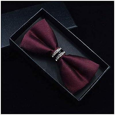 MY JINJI Necktie [Piedra de imitación de Boda de Corbata de Lazo ...