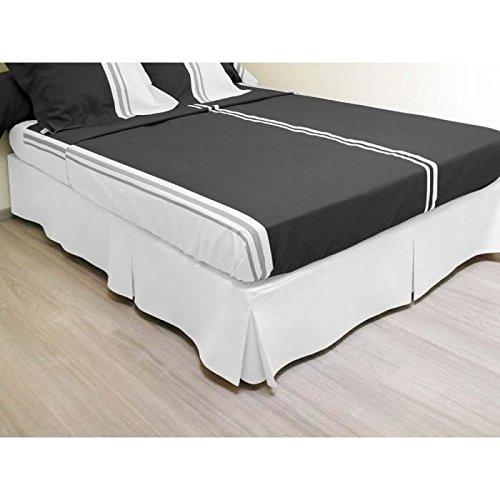 Bettvolant 140x190 cm weiß