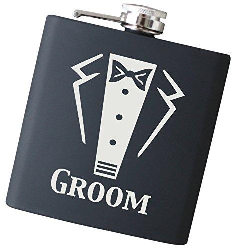 Engraved Wedding Party Gift 6 oz Flask  Groom Flask Liquor Hip Flasks Groom