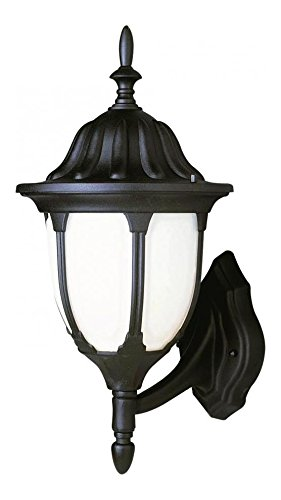 One Light Rust White Opal 4 Window Frame Glass Wall (Avignon Wall Lantern)