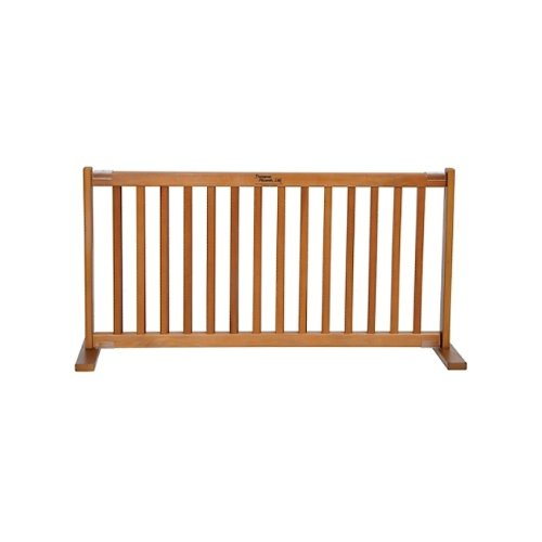 (large-39.25-72lx20hin.) Dynamic Accents 50cm . All Wood Small Free Standing Gate Artisan