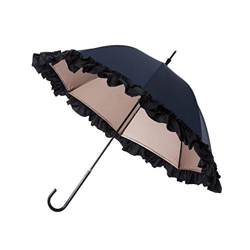 PROIDEA(プロイデア) 白川みきのおリボンUVカット涼感日傘 (ネイビー) B07DRKV53Lネイビー
