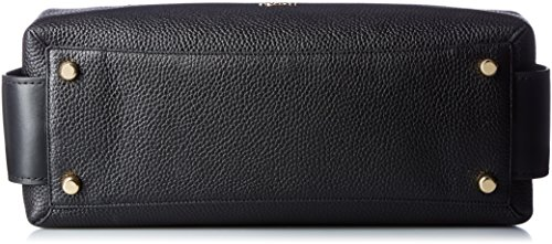 COACH 34 Brooklyn Li Black Pebbled Womens Carryall ww0zF