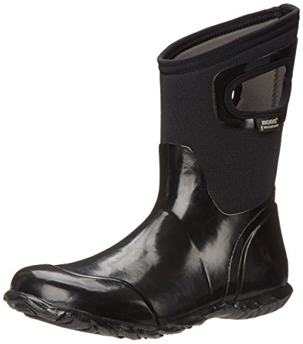 Bogs Womens North Hampton Solid Mid Waterproof Insulated Boot Black