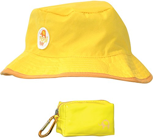Floppy Tops Ultra Compact Reversible Sun and Rain Hat (Yellow/Brown)