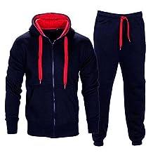 Tracksuits Set Stretch Hoodie Coat Long Pants Sets Sports Sweat Suit For Mens