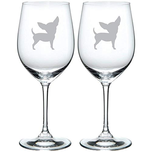 (Chihuahua Etched Glass Choice of Pilsner, Beer Mug, Pub, Wine Glass, Rocks, 1 each of a Moose, Bear, Wolf, Deer Etched)