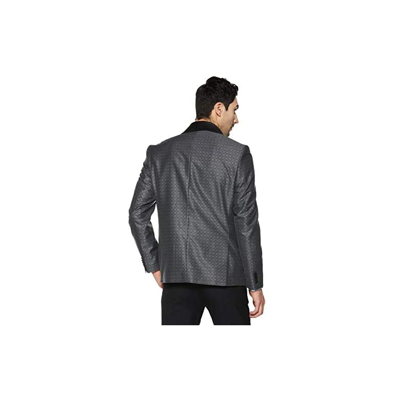 41kHH8o%2BiwL. SS768  - blackberrys Men's Shawl Collar Slim Fit Blazer