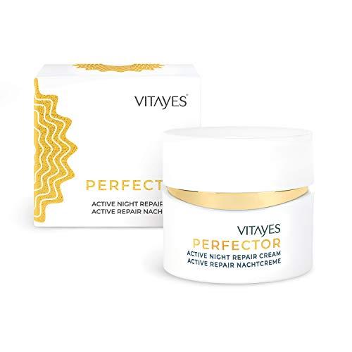 (NEU) VITAYES Nachtcreme mit Hydrasalinol und aktivem Repair Complex, Anti-Aging Feuchtigkeitscreme für Gesicht & Haut - made in Germany - 50 ml
