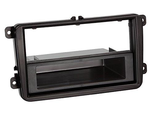 Carmedio Skoda Rapid ab 12 1-DIN Autoradio Einbauset in original Plug/&Play Qualit/ät mit Antennenadapter Radioanschlusskabel Zubeh/ör und Radioblende Einbaurahmen schwarz