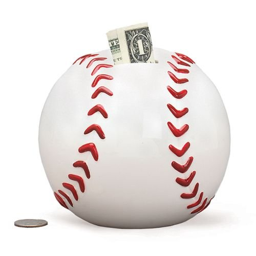 Baseball Shape Piggy Bank For Saving Money And