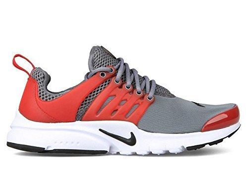 nike presto (GS) running trainers 833875 sneakers shoes (US 6 = UK 5.5 = EURO 38.5 = BR 37, cool grey university red black white (Gs Training Shoe)