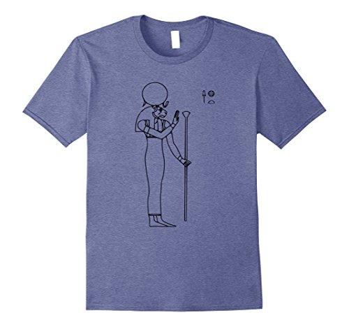 Mens Ra Shirt Egyptian God Egypt Religion Hieroglyph T-Shirt Small Heather Blue
