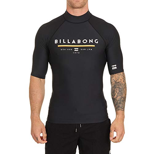 BILLABONG Herren Unity Kurzarm Rash Vest Top Navy