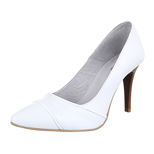 Ital-Design Damen Schuhe 5447A Pumps Leder High Heels