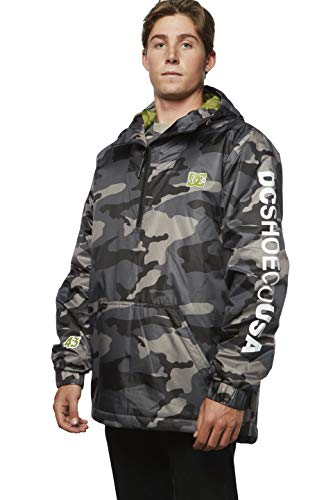 DC Apparel Men's Ken Block Founders Series Bolam Camo Jacket, Black KB dc, XL