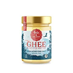 Fourth and Heart's grass-fed ghee is very lightly salted and gently whipped to add flavor to just about anything. Ghee is a type of clarified butter that is heated, reduced & triple-filtered out and what you're left with is the pure healt...