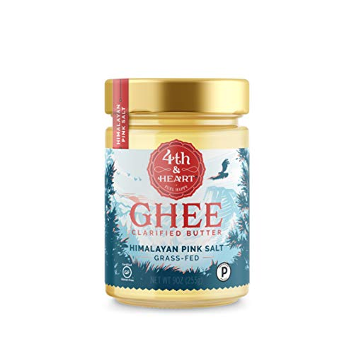 Himalayan Pink Salt Grass-Fed Ghee Butter by 4th & Heart, 9 Ounce, Pasture Raised, Non-GMO, Lactose Free, Certified Paleo, Keto-Friendly (Italian Almond Truffles)