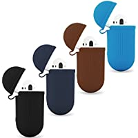Molitec Silicone Protective Cover Case with Metal Keychain for Apple AirPods