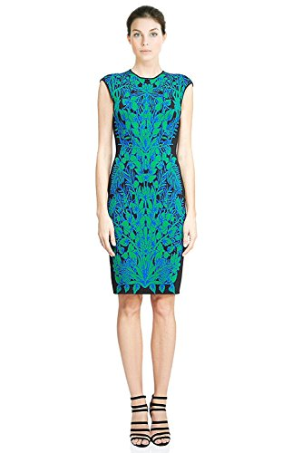 Tadashi Shoji Printed Knit Sleeveless Sheath Cocktail Dress