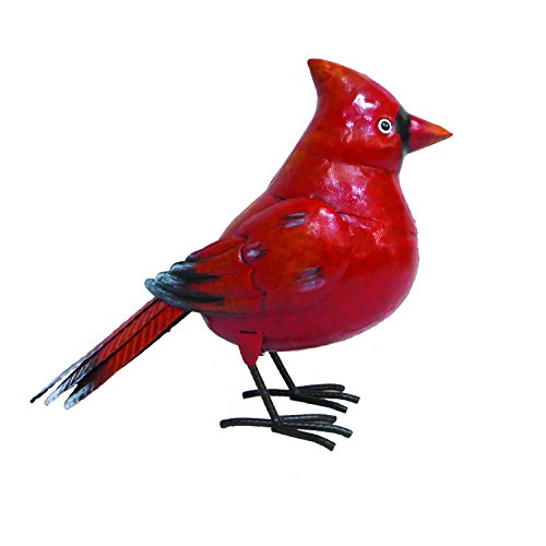 - BACKYARD EXPRESSIONS PATIO · HOME · GARDEN 905745 Metal Bird Statue, Red