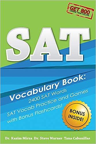 SAT Vocabulary Book - 2400 SAT Words, SAT Vocab Practice and